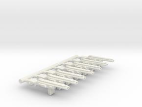 Automatic Assault Rifle in White Natural Versatile Plastic
