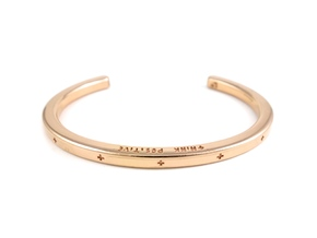 Plus Cuff  in 14k Rose Gold Plated Brass: Small