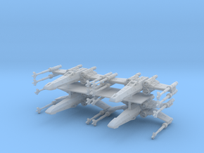1/350 X-Wing Four Pack in Smooth Fine Detail Plastic