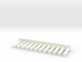 Cable Holder in White Processed Versatile Plastic