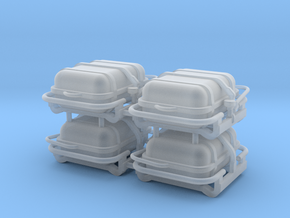 4X Offshore commander Liferaft container 8p - 1:64 in Smoothest Fine Detail Plastic