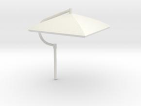 Umbrella Heavy Equipment 1-25 Scale in White Natural Versatile Plastic