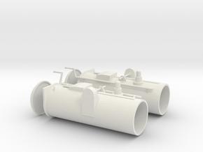 1/24 DKM Schnellboot S100 Torpedo Tubes Set in White Natural Versatile Plastic