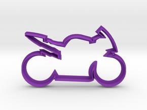 Motorcycle Cookie Cutter in Purple Processed Versatile Plastic
