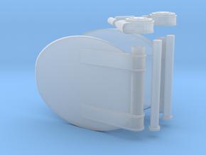 1/24 DKM Schnellboot Torpedo Tube Door SET in Smooth Fine Detail Plastic