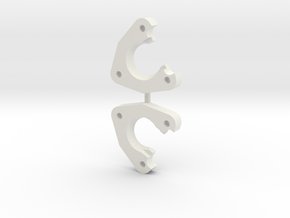 Tamiya Clodbuster c1 Axle Pivot in White Natural Versatile Plastic