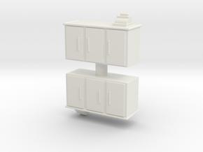 Shop Cash Counter (x2) 1/76 in White Natural Versatile Plastic