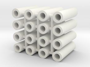 Broad Gauge Axles Multipack (N Scale) in White Natural Versatile Plastic