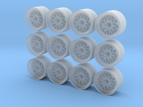JNC 001 rims for Hot Wheels in Smooth Fine Detail Plastic