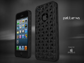 "Iphone 5, 5S ""Patterns"" Cover Case in Black Natural Versatile Plastic"