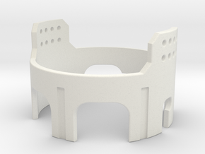 Graflex GMM Chassis - Part22 - Power Coupler 2 in White Natural Versatile Plastic
