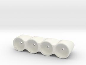 4-Pot FLAT Rally Light Pod in White Natural Versatile Plastic