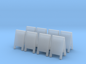 Advertising Board (x8) 1/87 in Smooth Fine Detail Plastic