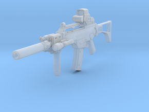 1/12th G36C Tactical 1 in Smooth Fine Detail Plastic