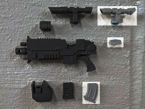 PRHI Large Modular Rifle- Standard Sprue in Smoothest Fine Detail Plastic