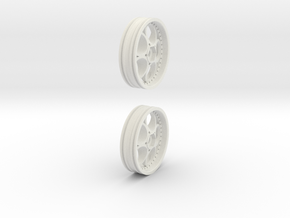 (2) skinny fronts 12mm hex for TRAXXAS, AE, TLR in White Natural Versatile Plastic