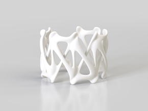 RIB CUFF in White Processed Versatile Plastic: Large
