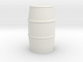 Blue Chemical Barrel 1/43 in White Natural Versatile Plastic