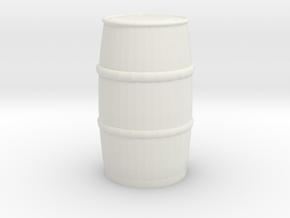 Blue Chemical Barrel 1/24 in White Natural Versatile Plastic