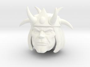 Ollo Head in White Processed Versatile Plastic