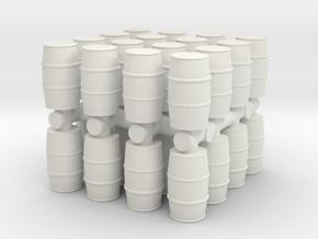 Blue Chemical Barrel (x32) 1/160 in White Natural Versatile Plastic