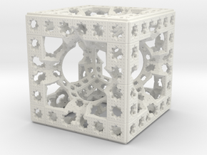 Hyper Solomon cube in White Natural Versatile Plastic