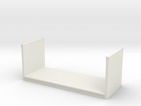 20ft Flatrack Container 1/120 in White Natural Versatile Plastic