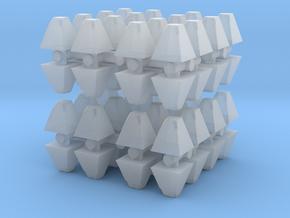 Dragon's Teeth Tank Trap (x64) 1/285 in Smooth Fine Detail Plastic