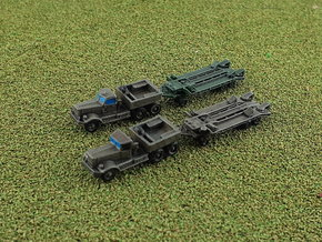M19 Tank Transporter w. Hard- & Soft-Top 1/285 in Smooth Fine Detail Plastic