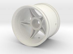 Twisted Star Wheel in White Natural Versatile Plastic