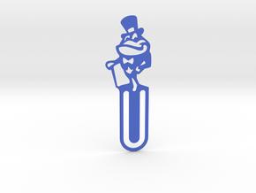 Mr Frog Bookmark in Blue Processed Versatile Plastic