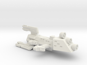 3125 Scale Kzinti X-Ship Scout Drone Frigate (FDX) in White Natural Versatile Plastic