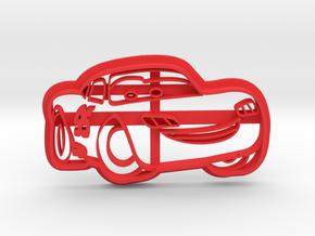 Mcqueen Cookie Cutter in Red Processed Versatile Plastic