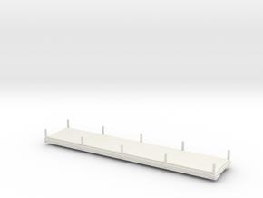 009 32 foot flat wagon in White Natural Versatile Plastic