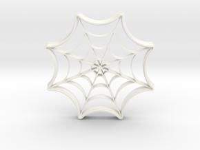 Spider Web Cookie Cutter in White Processed Versatile Plastic