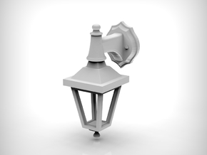 Street lamp 02. 1:24 scale  x2 Units in White Natural Versatile Plastic