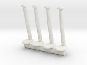 Tellermine Post (x4) 1/56 in White Natural Versatile Plastic
