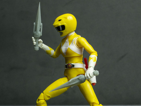 Heroes Yellow Accessory - Daggers in White Natural Versatile Plastic