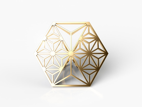 HEXAGON RING in Natural Brass: 8 / 56.75