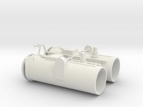 1/20 DKM Schnellboot S100 Torpedo Tubes Set in White Natural Versatile Plastic