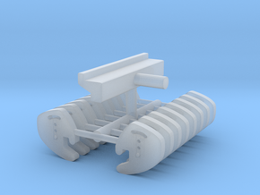 1/64th Counter Weights for Farm Tractor  in Smooth Fine Detail Plastic
