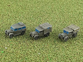 British Humber FWD 8cwt Heavy Utility Cars 1/285  in Smooth Fine Detail Plastic