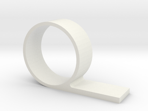 Toilet Clamshell in White Natural Versatile Plastic: Small