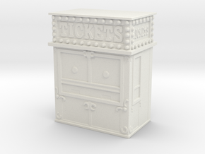 Carnival Ticket Booth 1/72 in White Natural Versatile Plastic