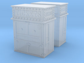 Carnival Ticket Booth (x2) 1/220 in Smooth Fine Detail Plastic
