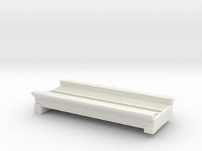 "N Afton Canyon Bridge 4 Deck 3"" in White Natural Versatile Plastic"