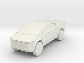 Tesla Cybertruck 1/64 in White Natural Versatile Plastic