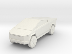 Tesla Cybertruck 1/56 in White Natural Versatile Plastic