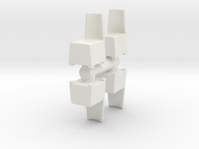 Modern Plastic Chair (x4) 1/64 in White Natural Versatile Plastic