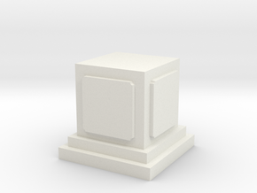 Pedestal for miniatures 1 in White Natural Versatile Plastic